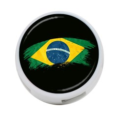 Flag Brazil Country Symbol 4 Port Usb Hub (one Side)
