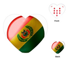 Bolivia Flag Country National Playing Cards Single Design (heart) by Sapixe