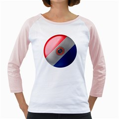 Paraguay Flag Country Nation Girly Raglan