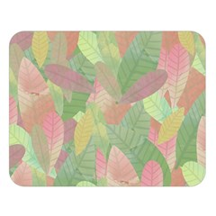 Watercolor Leaves Pattern Double Sided Flano Blanket (large)