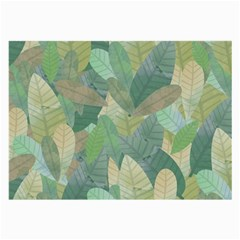 Watercolor Leaves Pattern Large Glasses Cloth (2 Sides)