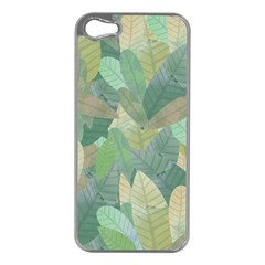 Watercolor Leaves Pattern Iphone 5 Case (silver)