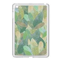 Watercolor Leaves Pattern Apple Ipad Mini Case (white) by Valentinaart