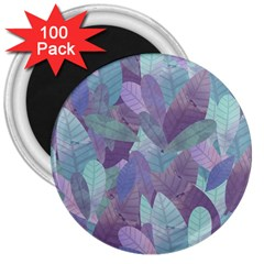 Watercolor Leaves Pattern 3  Magnets (100 Pack) by Valentinaart