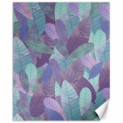 Watercolor Leaves Pattern Canvas 16  X 20  by Valentinaart