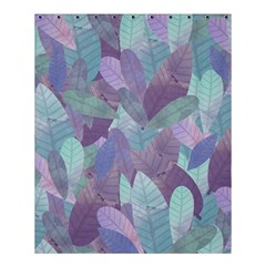 Watercolor Leaves Pattern Shower Curtain 60  X 72  (medium)