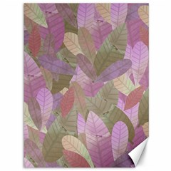 Watercolor Leaves Pattern Canvas 36  X 48