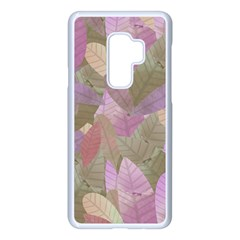 Watercolor Leaves Pattern Samsung Galaxy S9 Plus Seamless Case(white)