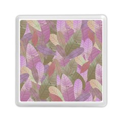 Watercolor Leaves Pattern Memory Card Reader (square)