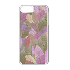 Watercolor Leaves Pattern Iphone 8 Plus Seamless Case (white)