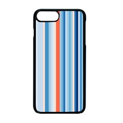 Blue And Coral Stripe 1 Iphone 7 Plus Seamless Case (black)