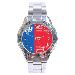 Seal Of Ant¨?rtica Chilena Province Stainless Steel Analogue Watch by abbeyz71
