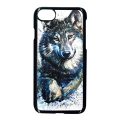 Gray Wolf - Forest King Iphone 8 Seamless Case (black) by kot737