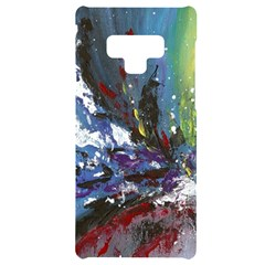 Original Abstract Art Samsung Note 9 Black Uv Print Case  by scharamo