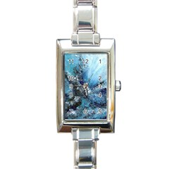 Original Abstract Art Rectangle Italian Charm Watch by scharamo