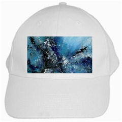 Original Abstract Art White Cap by scharamo