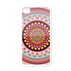 Mandala Zentangle Floral Round Iphone 4 Case (white)