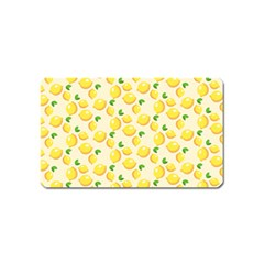 Fruits Template Lemons Yellow Magnet (name Card) by Pakrebo