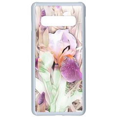Iris Digital Painting Flower Pastel Samsung Galaxy S10 Seamless Case(white)