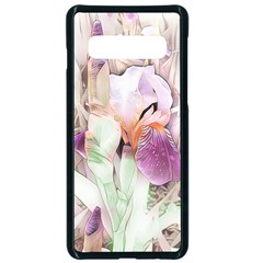 Iris Digital Painting Flower Pastel Samsung Galaxy S10 Seamless Case(black) by Pakrebo