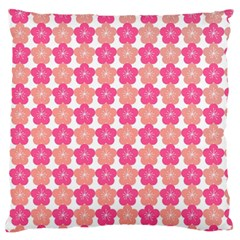 Sakura Flower Pattern Large Flano Cushion Case (one Side) by Pakrebo