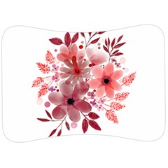 Watercolour Flowers Red Watercolor Velour Seat Head Rest Cushion