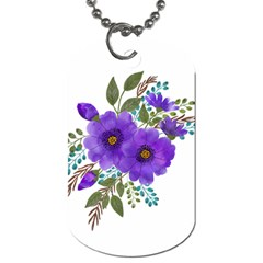 Watercolour Flowers Spring Floral Dog Tag (one Side) by Pakrebo