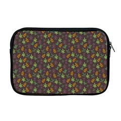 Tribal Leaves House Art Tribal Art Apple Macbook Pro 17  Zipper Case by Pakrebo