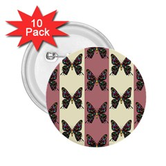 Butterflies Pink Old Old Texture 2 25  Buttons (10 Pack)  by Pakrebo