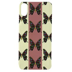 Butterflies Pink Old Old Texture Apple Iphone Xs Tpu Uv Case