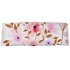 Flowers Watercolor Body Pillow Case (dakimakura) by Pakrebo