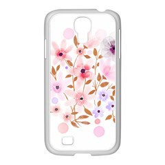 Flowers Watercolor Samsung Galaxy S4 I9500/ I9505 Case (white)
