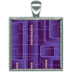 Background Non Seamless Pattern Square Necklace