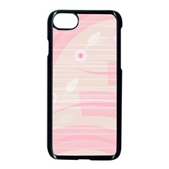 Background Non Seamless Pattern Pink Iphone 7 Seamless Case (black)