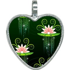 Background Non Seamless Pattern Heart Necklace