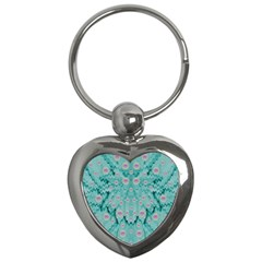 Lotus  Bloom Lagoon Of Soft Warm Clear Peaceful Water Key Chain (heart) by pepitasart