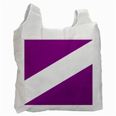 Flag Of Puerto Williams Recycle Bag (one Side) by abbeyz71