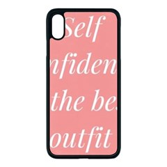 Self Confidence  Iphone Xs Max Seamless Case (black) by Abigailbarryart