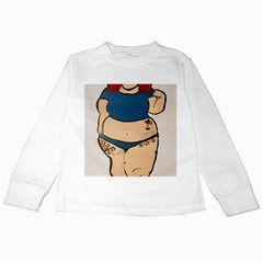 Sassy Kids Long Sleeve T Shirts by Abigailbarryart