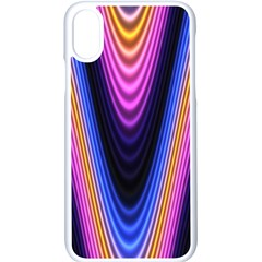Wave Line Waveform Sound Purple Iphone X Seamless Case (white)