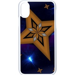 Star Background Iphone X Seamless Case (white)