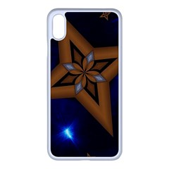 Star Background Iphone Xs Max Seamless Case (white)
