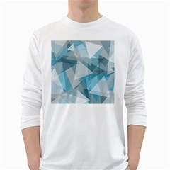 Triangle Blue Pattern Long Sleeve T-shirt by HermanTelo