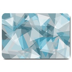 Triangle Blue Pattern Large Doormat  by HermanTelo