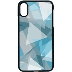 Triangle Blue Pattern Iphone X Seamless Case (black)