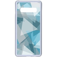 Triangle Blue Pattern Samsung Galaxy S10 Plus Seamless Case(white) by HermanTelo