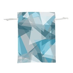 Triangle Blue Pattern Lightweight Drawstring Pouch (m)