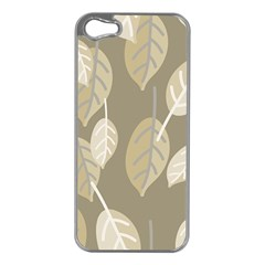 Leaf Grey Iphone 5 Case (silver)