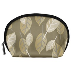 Leaf Grey Accessory Pouch (large)