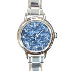 Abstract Blue Diving Fresh Round Italian Charm Watch by HermanTelo